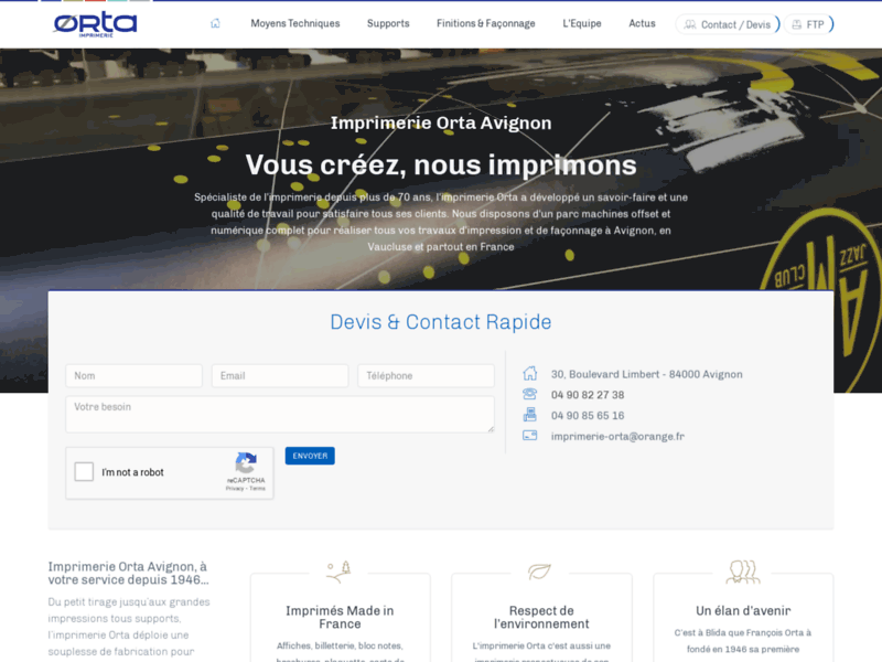 Imprimerie ORTA : le spécialiste de l'imprimerie à Avignon