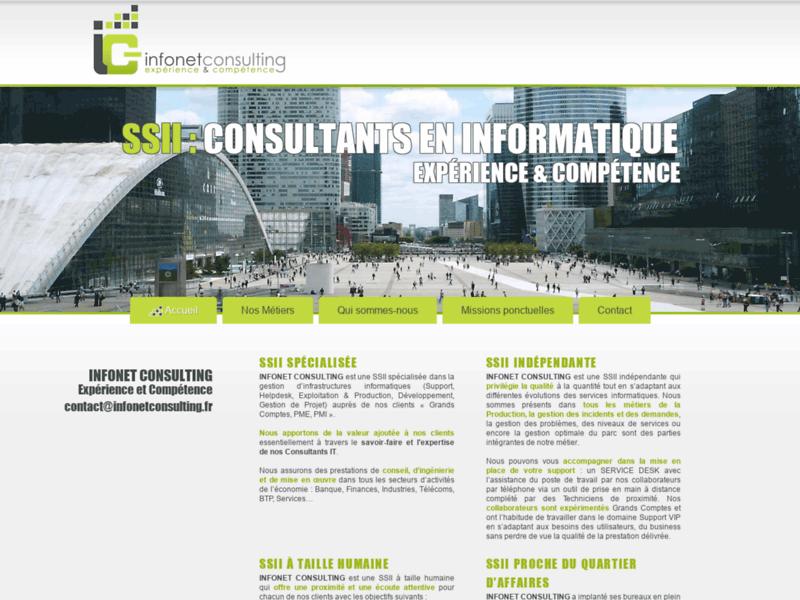 Consultant Informatique SSII - conseil informatique - Consulting informatique