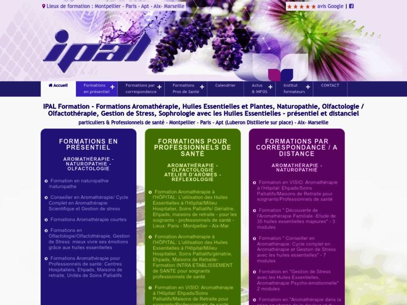 IPAL Formation : centre de formation en aromathérapie, naturopathe & huiles essentielles