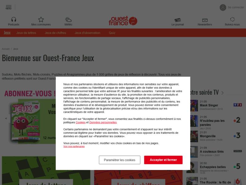 Jeux sur internet Ouest-France