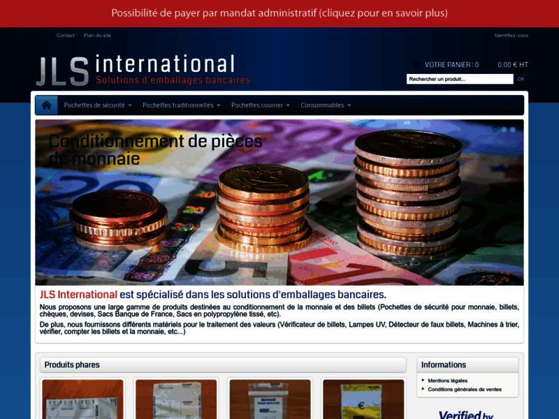 JLS International : Solutions de conditionnement d'argent pièces et billets