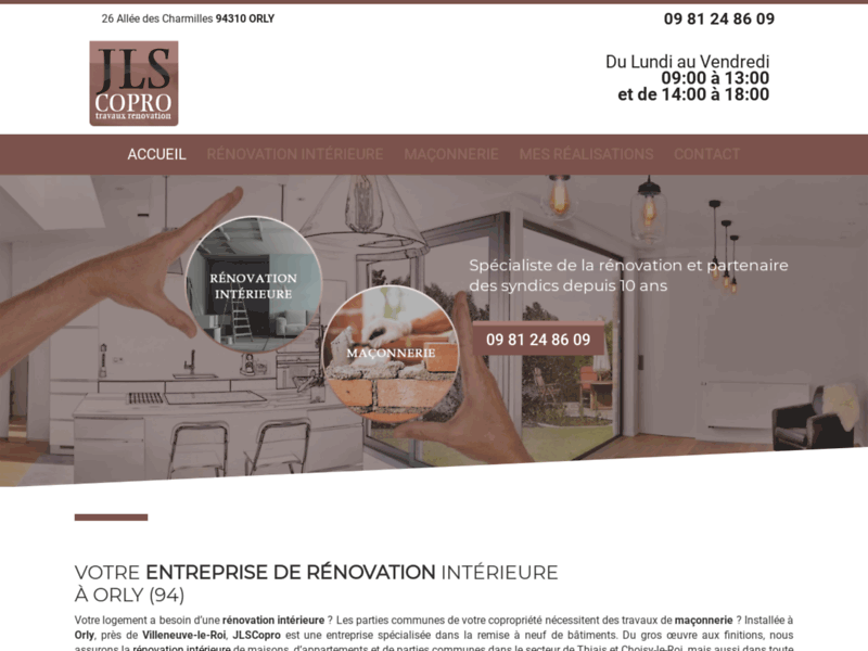 Entreprise de rénovation intérieure et extérieure Saint Maur des Fossés-JLS Copro