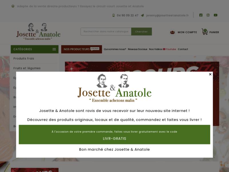 Josette et Anatole, votre boutique en ligne de produits locaux et en circuit court