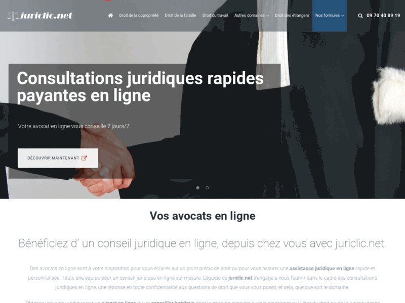 Juriclic Avocats en ligne : consultation juridique