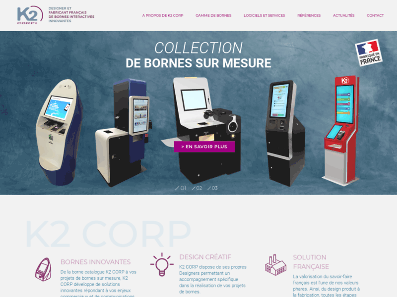 K2 CORP, le monde de la borne interactive et multimédia