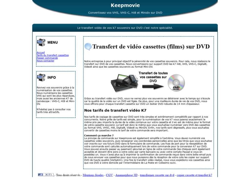 Keepmovie, conversion de cassettes vidéo