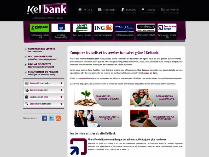 Kelbank.com : comparateur de frais bancaires
