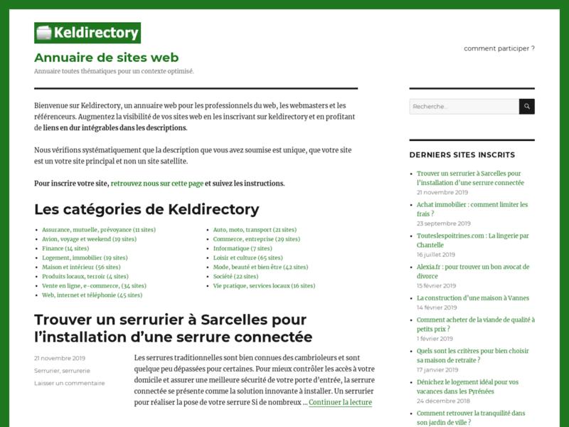 Keldirectory, annuaire de site web
