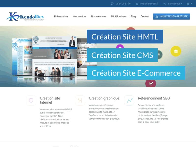 KendoDev, création site Internet Toulon