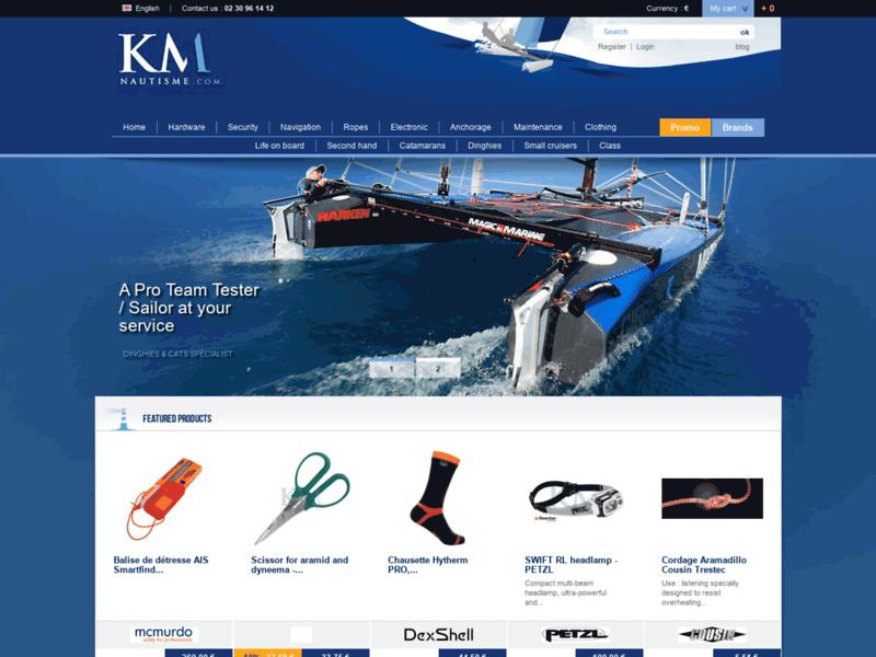 KM Nautisme - Accastillage et accessoires pour votre bateau et son équipage