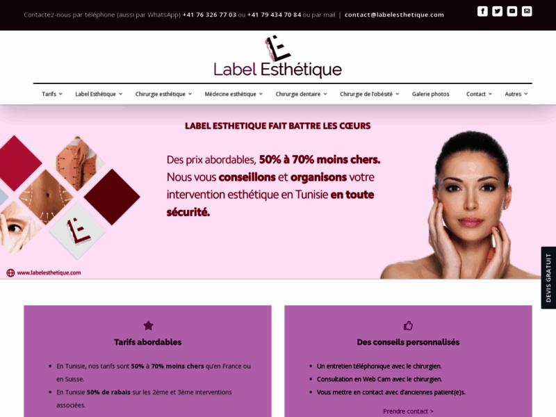 Chirurgie esthétique Tunisie, Augmentation mammaire, Réduction mammaire, lifting - Labelesthetique