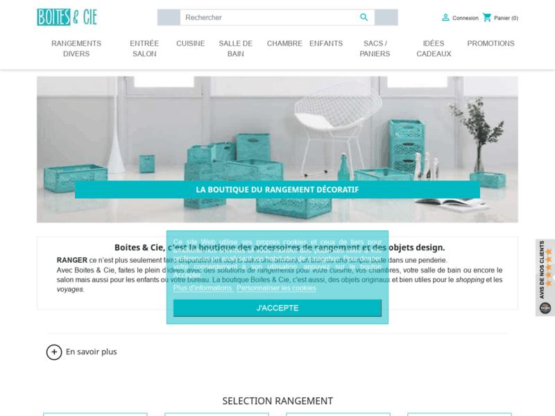 Boites & Cie : spécialiste des accessoires de rangement et objets design