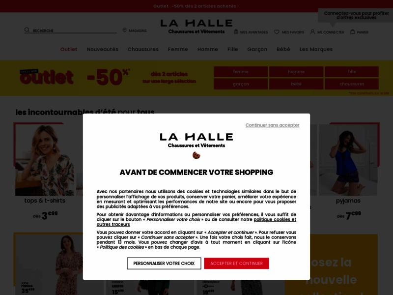 La Halle, e-boutique de vêtements, chaussures et accessoires