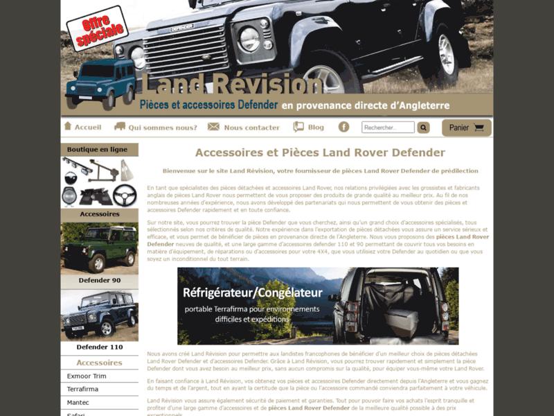 Land Revision, pièces détachées Land Rover Defender