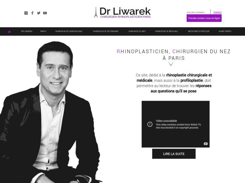 Rhinoplastie - Dr Liwarek chirurgie esthétique
