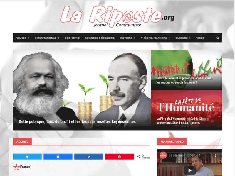 La Riposte - Journal communiste et analyses marxiste