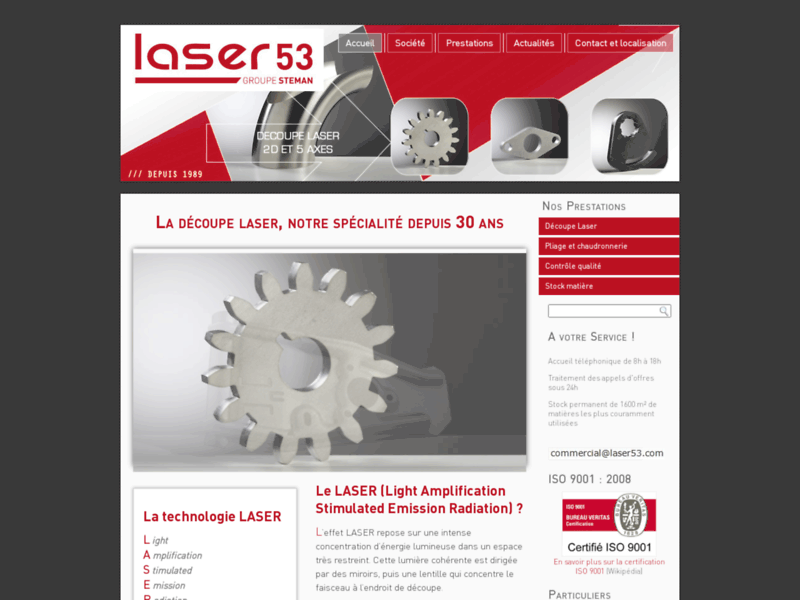 Referencement Google Bazougers : decoupe laser