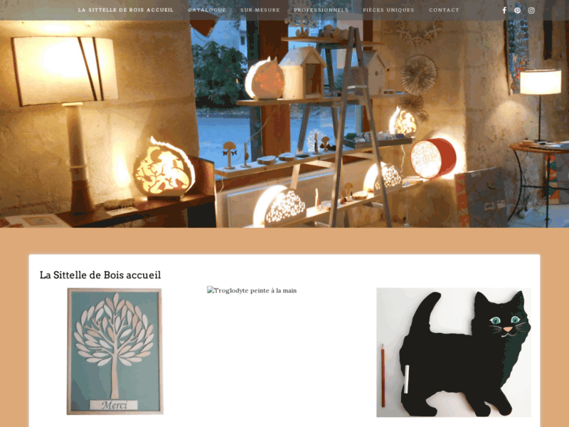 Création et fabrication artisanale d'objets en bois