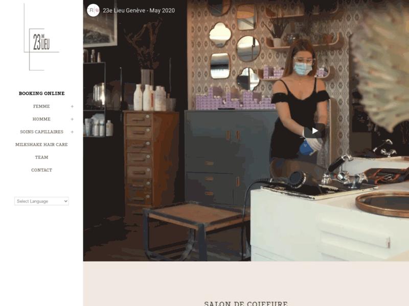 Salon de coiffure quartier des EauxVives à Genève: Le 23eme Lieu