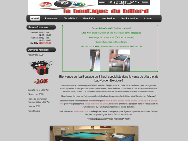 Magasin de billard Belgique