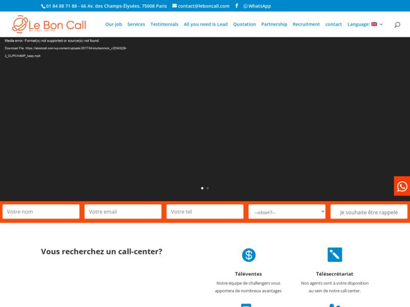 Le bon call, centre d'appel