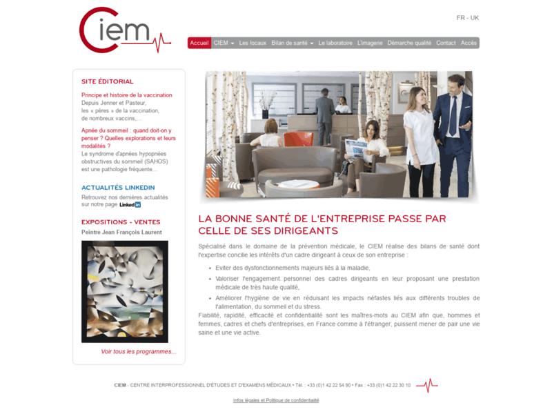 Bilan de santé au centre du CIEM à Paris