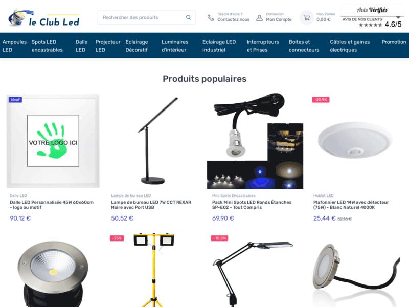 Vente en ligne d'ampoules LED