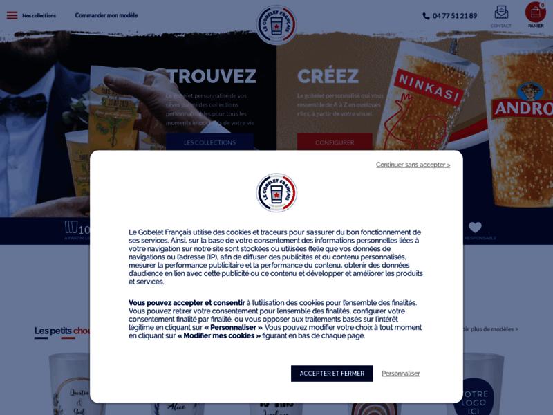 Le Gobelet Français : vente de gobelets personnalisables et réutilisables