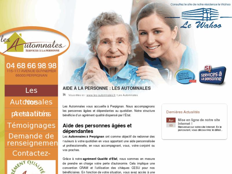 Services à domicile Les Automnales à Perpignan