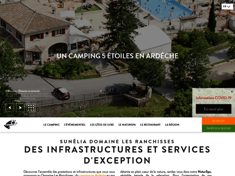 Vacances en camping dans l'Ardèche