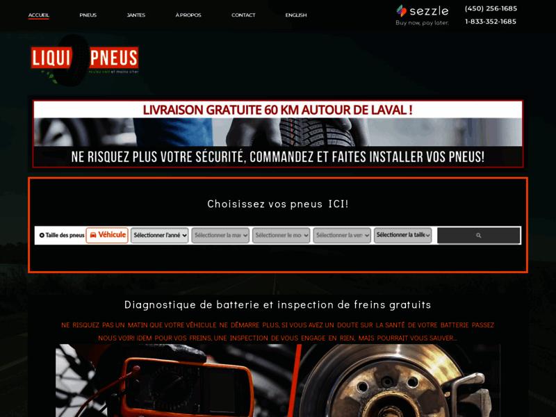 Accueil | LiquiPneus | Votre centre de ventes de pneus à Laval