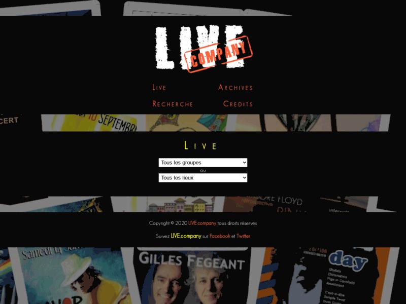 LIVE.company Les concerts à côté de chez vous