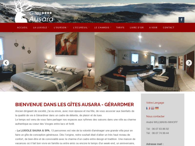 Location de gîtes de luxe à Gérardmer (Vosges)