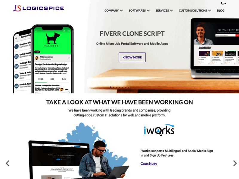 Website's screenshot : Web & Mobile App Software Development Company