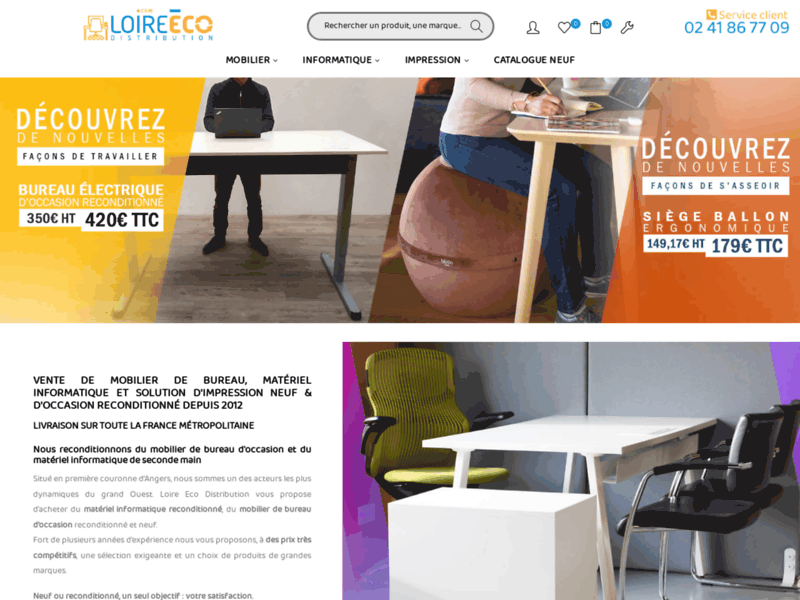 Loire Eco Distribution, mobilier de bureau et système informatique neuf et d'occasion reconditionné