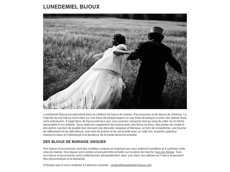 Bijoux mariage sur mesure