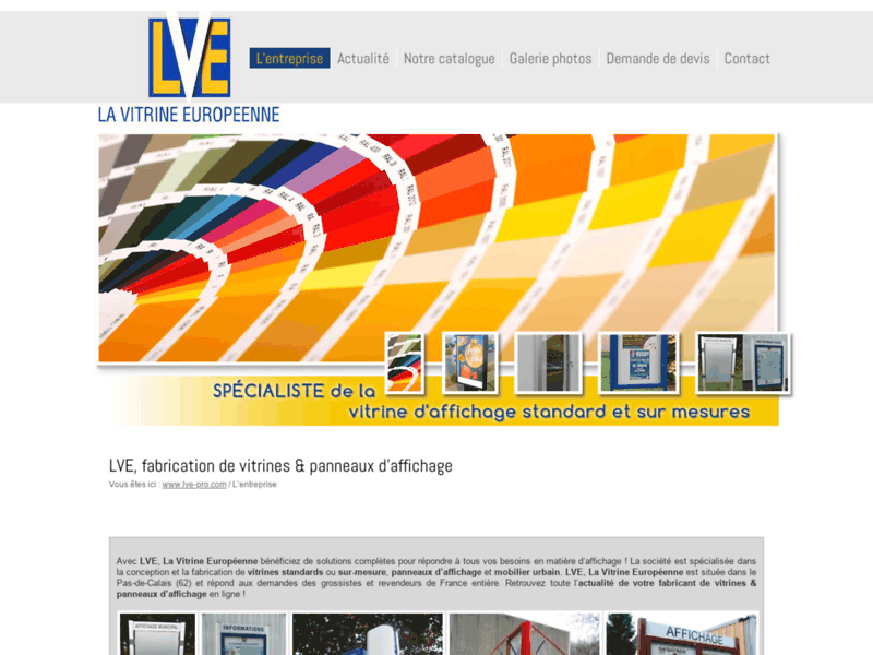 Vos vitrines et panneaux d'affichage avec LVE, La Vitrine Européenne