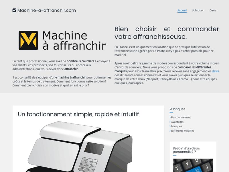 Machine à affranchir, affranchissement rapide et économique du courrier et des colis