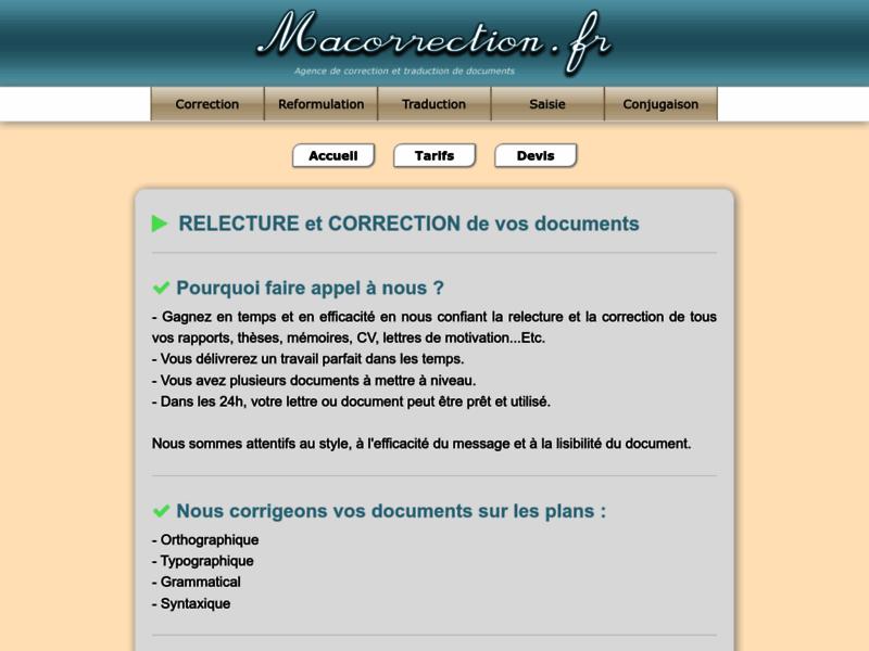 Ma Correction, service de correction de documents