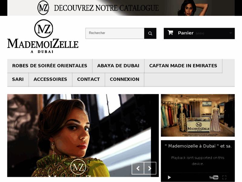 MademoiZelle a Dubai, magasin de caftan, negafa, abaya, djellaba