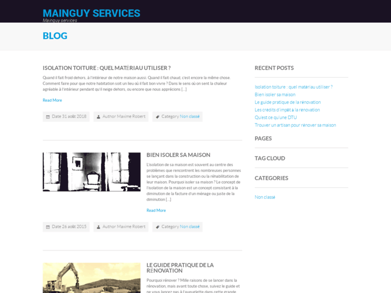 MAINGUY Services : plomberie, chauffage