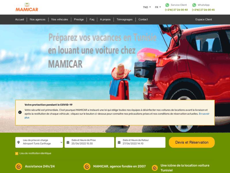Mamicar, location de voitures en Tunisie