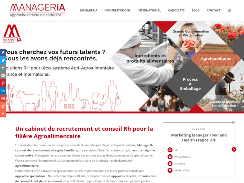 Cabinet recrutement agro-alimentaire - www.manageria.fr