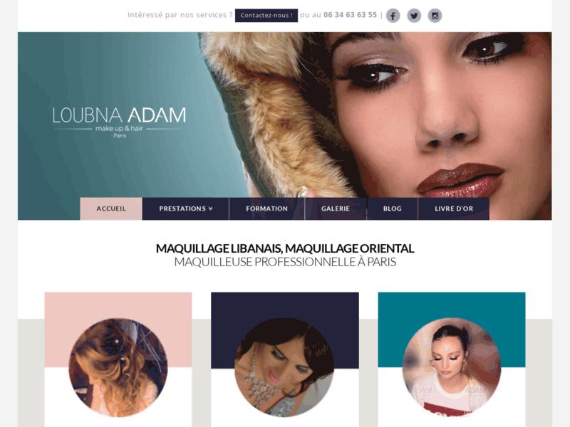 1ère page Google Paris : Maquillage libanais