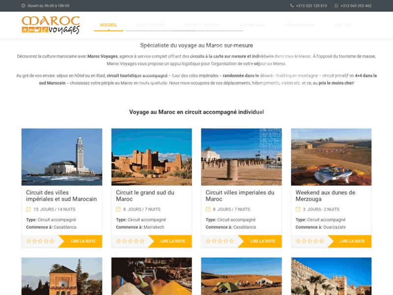 Portail des voyages et séjours au Maroc