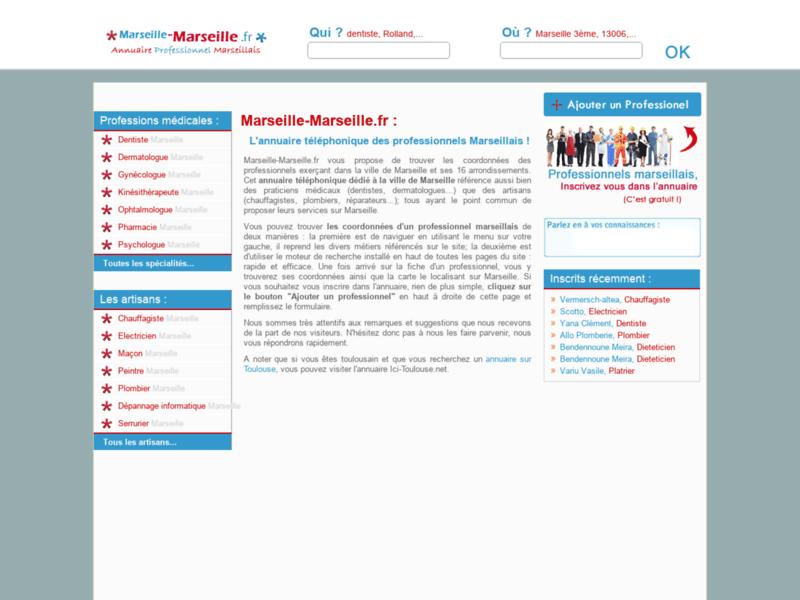 L'Annuaire des professionnels de Marseille