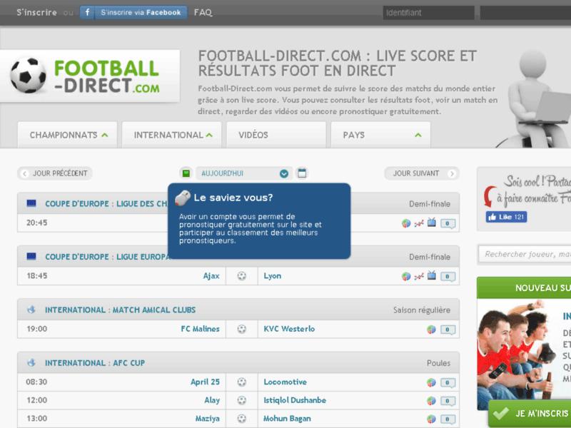 Match-Endirect.com pour ne manquer aucun résultat foot