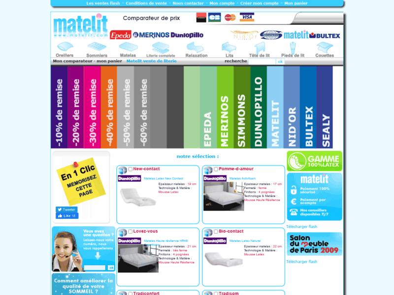 Vente de matelas - www.matelit.com