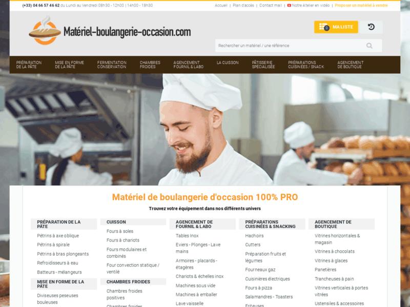 Matériel Boulangerie Occasion : site d'annonces d'occasion pour les boulangers et pâtissiers