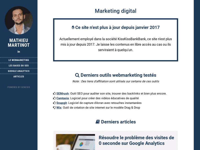 Mathieu Martinot, consultant SEO et Webmarketing